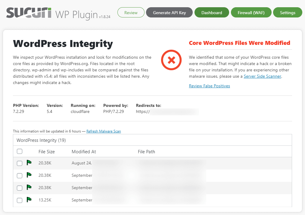 Sucuri Security Plugin for WordPress