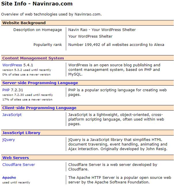 W3Techs CMS Detector
